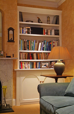 Sitting room alcove cupboard